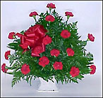 Sympathy Mache in Red from Fields Flowers in Ashland, KY