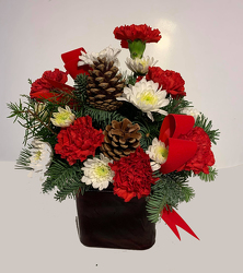 CHRISTMAS CUBE from Fields Flowers in Ashland, KY