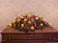Mixed Fall for closed Casket from Fields Flowers in Ashland, KY