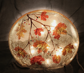 Fall Decorative Lighted Glass Globe - Round from Fields Flowers in Ashland, KY