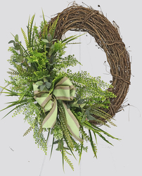 Mixed Greens Wreath from Fields Flowers in Ashland, KY