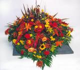 Mixed fall with ribbon and keepsake from Fields Flowers in Ashland, KY