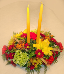 Fall 2 Candle Centerpiece  from Fields Flowers in Ashland, KY