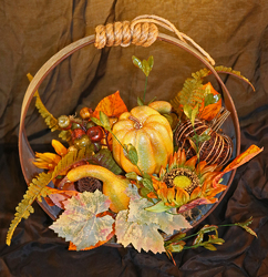 Fall Silk with Gourds from Fields Flowers in Ashland, KY