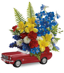 Teleflora's '65 Ford Mustang Bouquet  from Fields Flowers in Ashland, KY