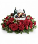 Thomas Kinkade's Visiting Santa Bouquet from Fields Flowers in Ashland, KY