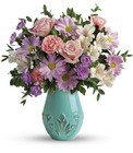 Teleflora's Blushing Aqua Bouquet from Fields Flowers in Ashland, KY