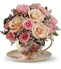 Teleflora's Victorian Teacup Bouquet from Fields Flowers in Ashland, KY